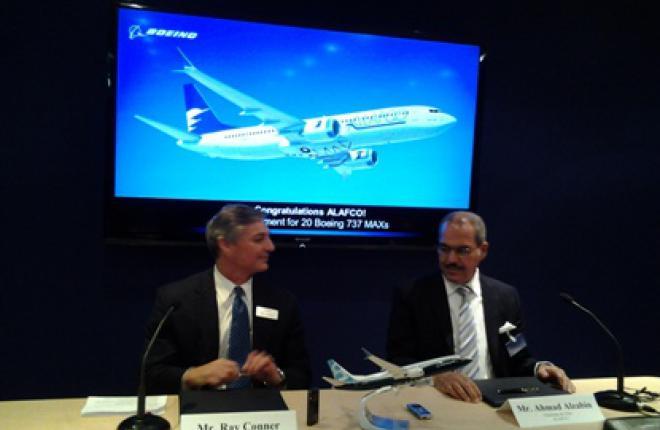 Лизинговая компания ALAFCO заказала 20 самолетов Boeing 737MAX