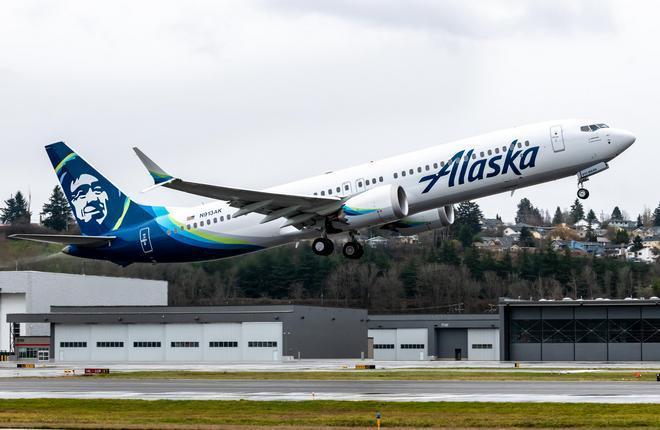 самолет Boeing 737MAX-9 авиакомпании Alaska
