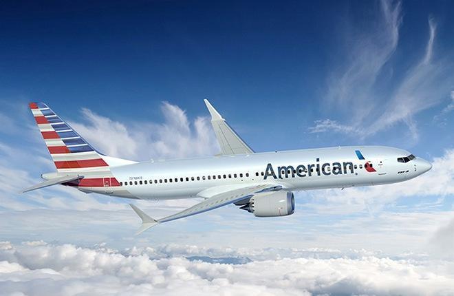 Boeing 737 MAX-8 авиакомпании American Airlines
