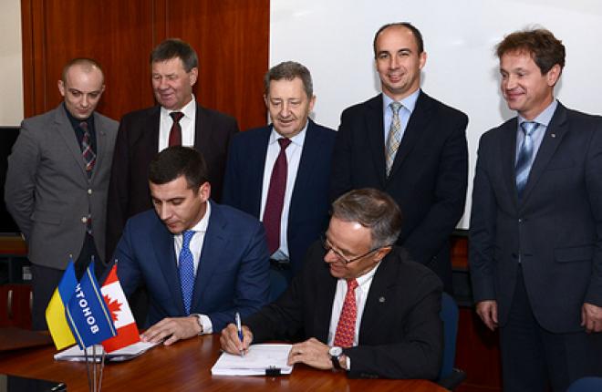 Украинцы подписывают с канадцами договор на поставку авиадвигателей