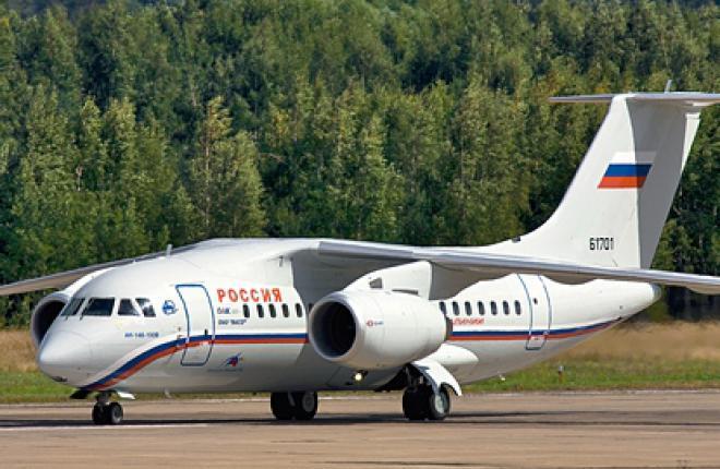 Самолет Ан-148 авиакомпании Россия