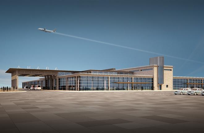 Проект нового терминала в аэропорту Анапы