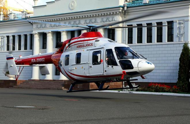 """Вертолет """"Ансат"""" в медицинском исполнении"""