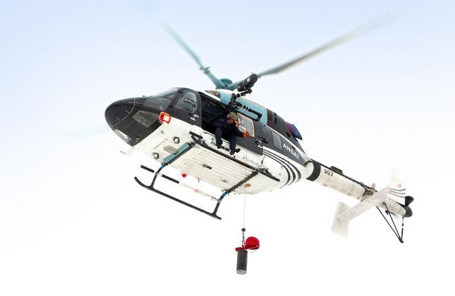 вертолет Ансат с лебедкой