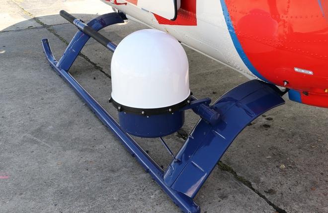 бортовая станция спутниковой связи MKu30 на  вертолете «Ансат»