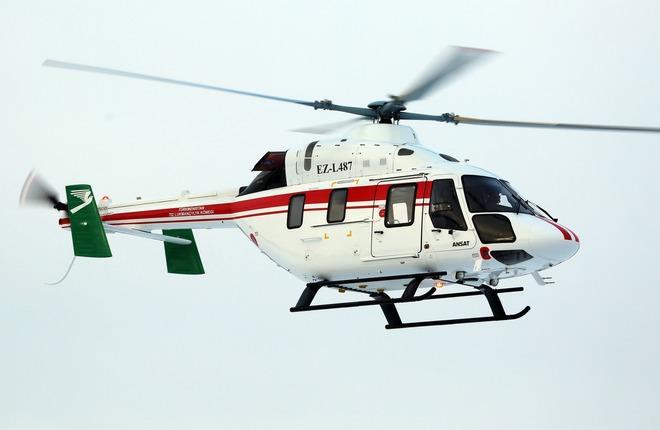 вертолет Ансат Туркменистан, бортовой номер EZ-L487