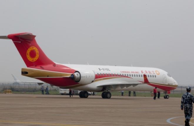 Китайский региональный самолет ARJ21-700 получил сертификат типа