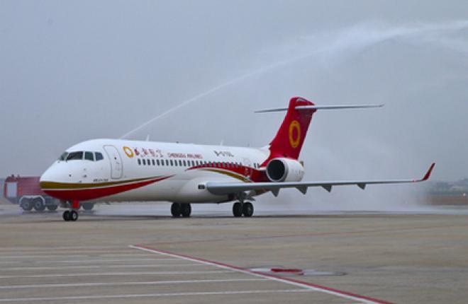 Первый китайский самолет ARJ21 поставлен клиенту