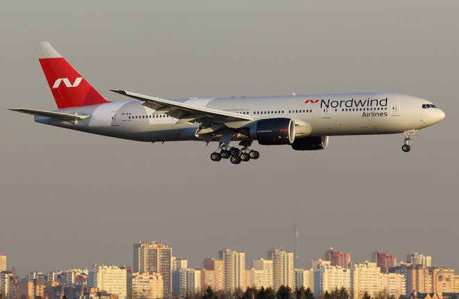 Самолет B-777-200ER авиакомпании Nordwind