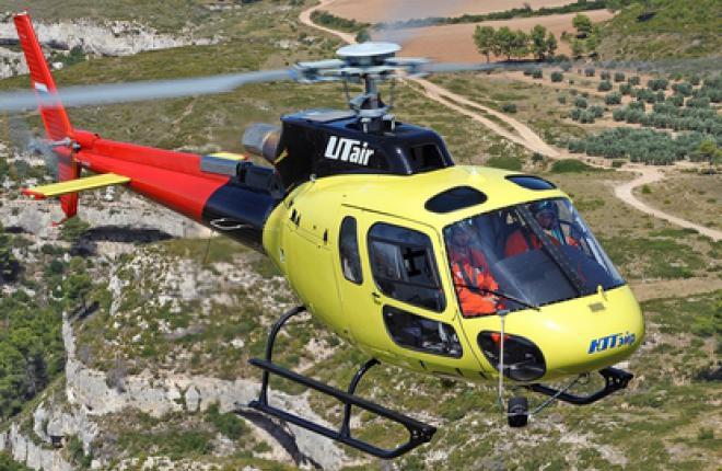 """""""ЮТэйр"""" получила первые вертолеты AS350 B3e"""