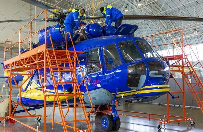 капремонт вертолета Ми-8AMT (бортовой номер 4K-AZ72 АМТ), принадлежащего бакинскому авиаперевозчику ASG Helicopter Services