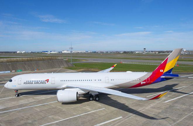 ФОТО: Первый Airbus A350 для южнокорейской авиакомпании Asiana Airlines