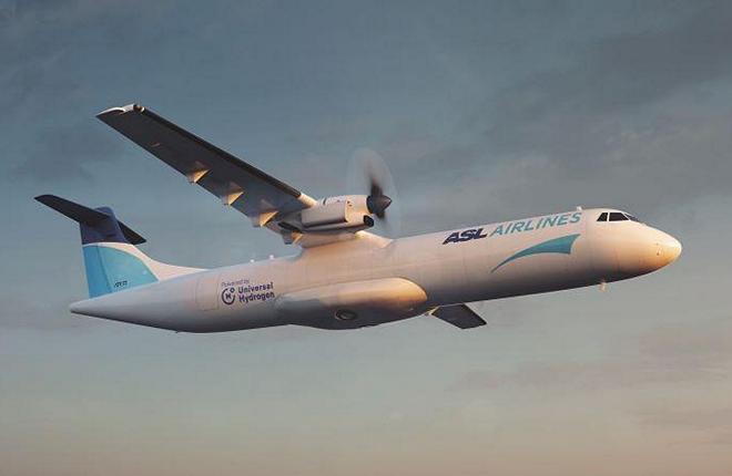 грузовая авиакомпания ASL Aviation Holdings собирается модифицировать до десяти турбовинтовых самолетов ATR 72 под использование водородного топлива