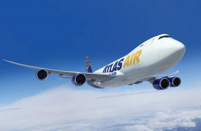 Boeing 747-8F авиакомпании atlas air