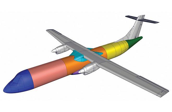 Цифровая модель самолета ATR 72