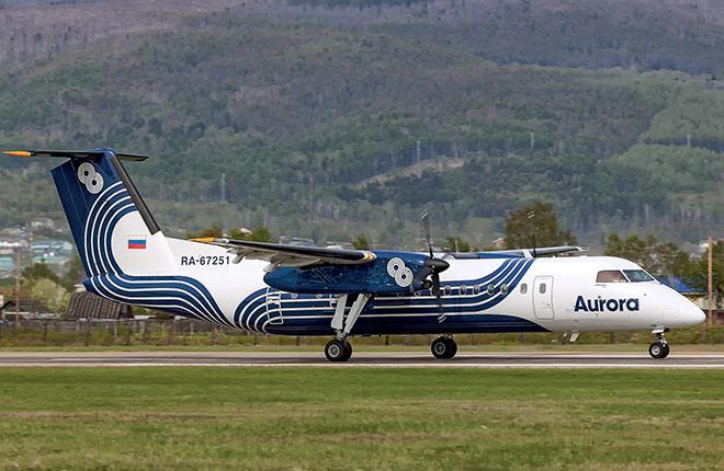 "Самолет Bombardier авиакомпании ""Аврора"""