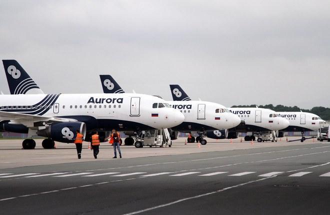 самолеты Airbus A319 авиакомпании «Аврора»