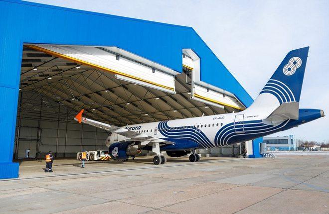 ангар по техобслуживанию воздушных судов авиакомпании «Аврора» в аэропорту Владивосток