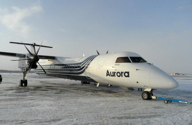 """Авиакомпания """"Аврора"""" пополнила флот вторым самолетом Bombardier Q400"""