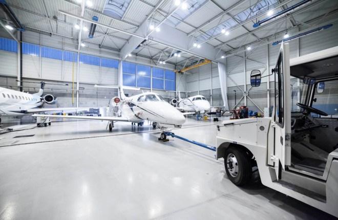 Ангар Avangard Aviation в Баден-Бадене