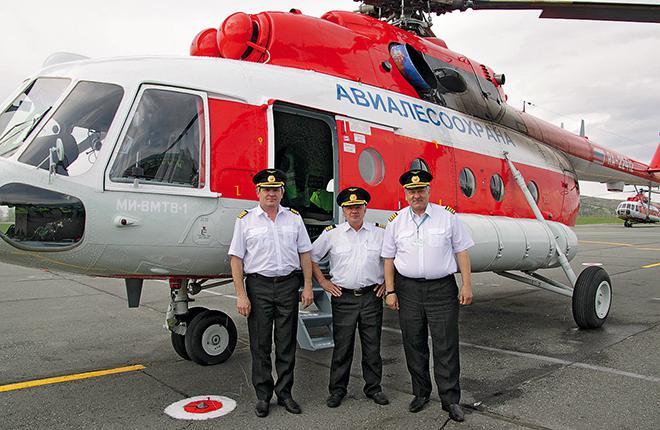 New Mil Mi-8MTV-1 of Altai's Avialesookhrana