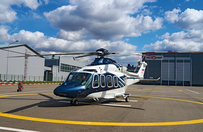 Вертолет AW139 в сервисном центре HeliVert