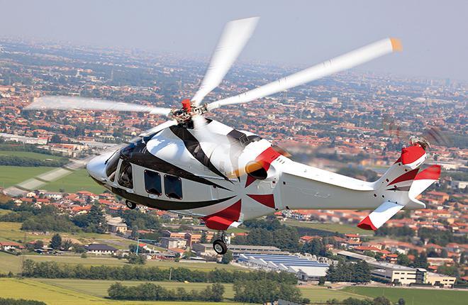 Салон AW169 может вмещать до 10 пассажиров