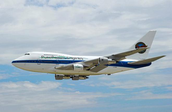 Летающая лаборатория Boeing 747SP с двигателями Pratt&Whitney PW1500G