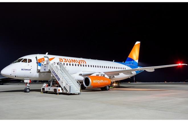"""RA-89149 (серийный номер MSN 95179) стал двенадцатым SSJ 100 в парке авиакомпании """"Азимут"""""""
