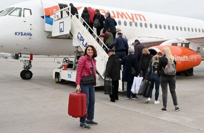 """Посадка на рейс авиакомпании """"Азимут"""""""