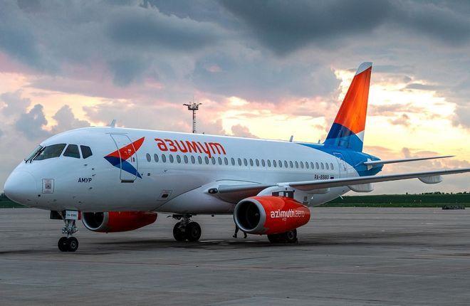 самолет Superjet 100 бортовой номер RA-89180 (MSN 95184, «Амур»)