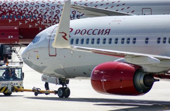 """Самолет Boeing 737-800 авиакомпании """"Россия"""""""