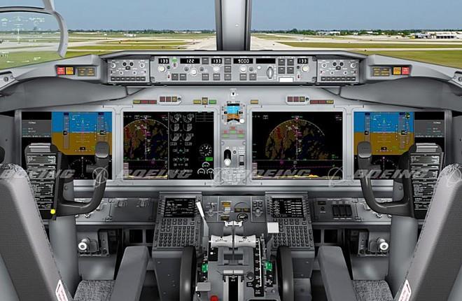 Кабина самолета Boeing 737MAX
