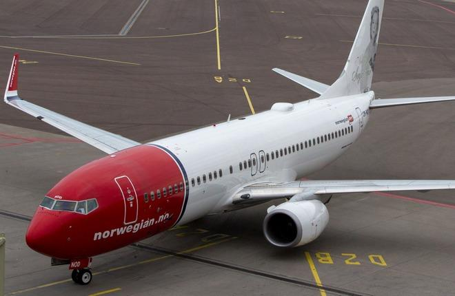 Boeing 737-800 авиакомпании Norwegian