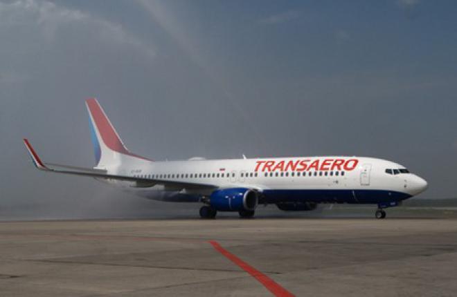 """В Москву прибыл Boeing 737-800 в новой ливрее """"Трансаэро"""""""