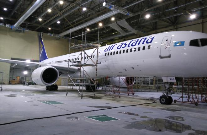 Авиакомпания Air Astana отправила самолет на перекраску в Россию
