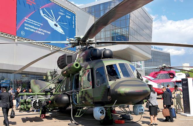 Модернизированный военно-транспортный вертолет Ми-171Ш на статической экспозиции HeliRussia 2018 :: Марина Лысцева