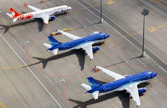 Самолеты AZAL и Buta Airways