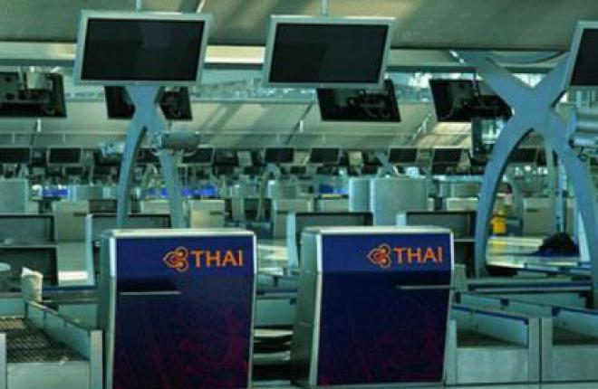 Самолет Airbus A330 авиакомпании Thai Airways выкатился за пределы ВПП в аэропор