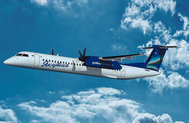 """Авиакомпания """"Якутия"""" получила первый самолет Bombardier Q400"""
