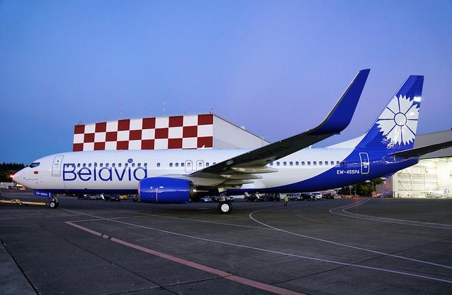 "Самолет Boeing 737 авиакомпании ""Белавиа"""