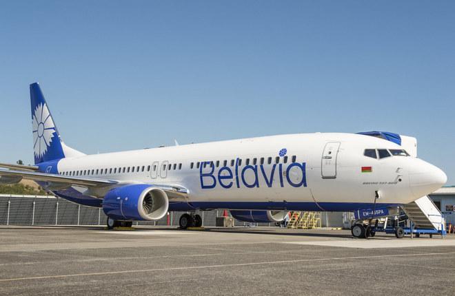 "Самолет Boeing 737-800 авиакомпании ""Белавиа"""