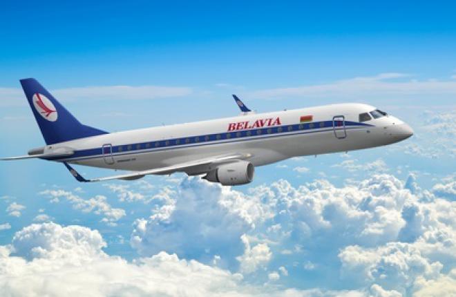 """авиакомпания """"Белавиа""""  получит в лизинг два реактивных самолета Embraer 175"""