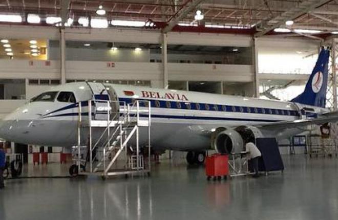 """Первый Embraer 175 для авиакомпания """"Белавиа"""" готов к поставке"""