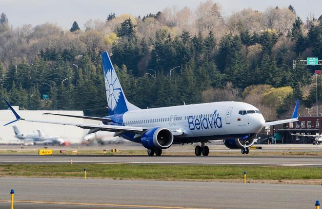"самолет Boeing 737MAX авиакомпании ""Белавиа"""