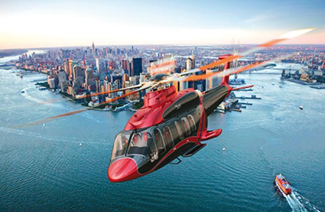 Bell в этом году представил макет 525 в поисково-спасательной конфигурации на выставке  Heli-Expo
