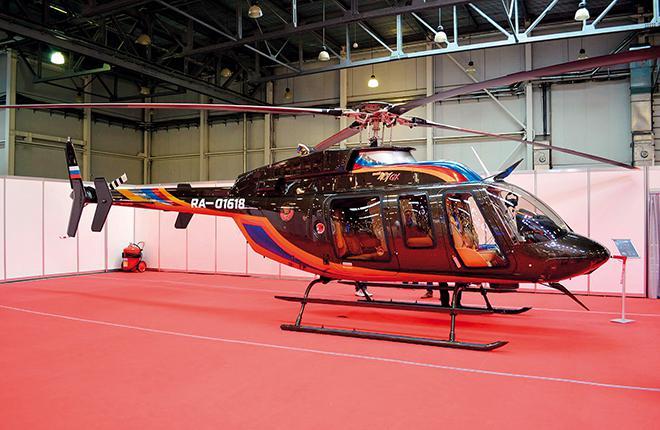 Этот вертолет Bell-407GX используется для деловых перевозок в московском регионе