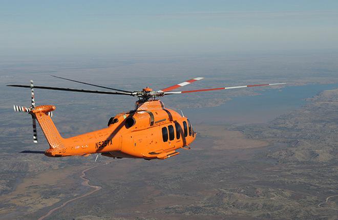 Скорость вертолета Bell-525 превысила 370 километров в час
