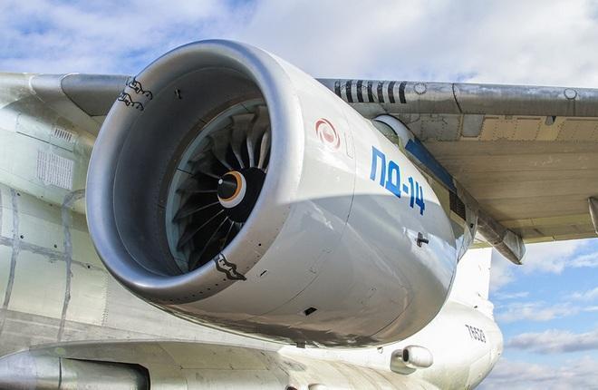 Двигатель ПД-14 в составе летающей лаборатории Ил-76ЛЛ