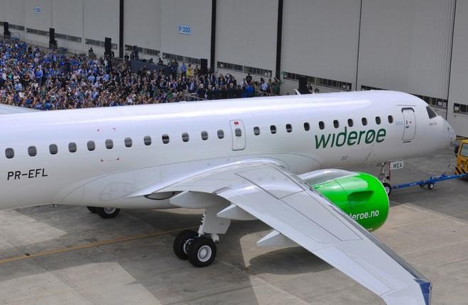 Embraer E190-E2 авиакомпании Widerøe